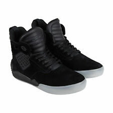 Supra Skytop Iv Mens Black Suede High Top Lace Up Sneakers Shoes