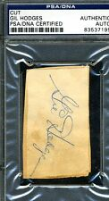 GIL HODGES SIGNED PSA/DNA AUTHENTICATED CARD SIZE CUT AUTOGRAPH