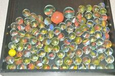LOT OF 108 VINTAGE GLASS MARBLES ASSORTED COLORS & SIZES 3 ARE LARGER SHOOTERS