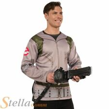 Mens Ghostbusters Shirt & Proton Pack Halloween Costume Adult Fancy Dress Outfit