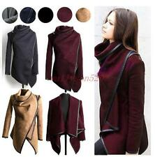 Fashion British Womens Casual Slim Fit Cape Trench Coat wool Jacket outwear new