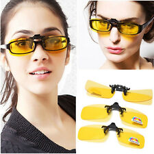 Polarized Glasses Driving/Fish Clip on Sunglasses  Night Vision  For Metal Frame