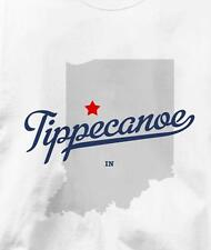 Tippecanoe, Tippecanoe County, Indiana IN MAP T Shirt All Sizes & Colors