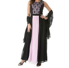 Mother of Bride Groom Women's Wedding Prom formal gown & Shawl dress plus XL 1X