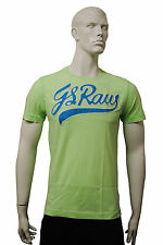 Mens G-Star T Shirt Top Blue GS Raw Embro - Green Size S to L MG26.1
