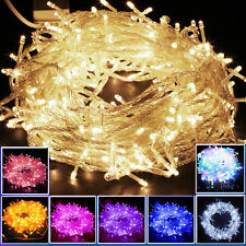 10/20M 100/200 LED String Fairy Lights Indoor/Outdoor Xmas Wedding Party Lamps