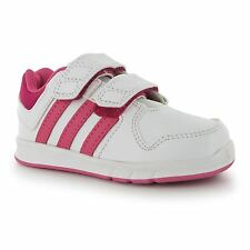 Adidas LK Trainers 6 CF Infant Girls White/Pink Sneakers Sports Shoes Footwear