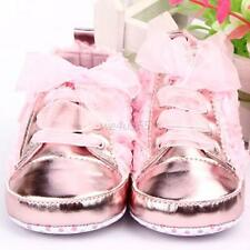 Baby Kids Boots Shoes Toddler Infants Girls Rose Lace Up Soft Sole Shoes Sz 4-6