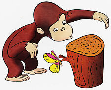 """6.5""""-10.5"""" CURIOUS GEORGE MONKEY BUTTERFLY WALL SAFE STICKER BORDER CUT OUT"""