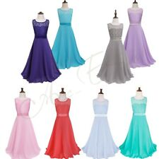 Kids Pageant Bridesmaid Prom Princess Ball Gown Flower Girl Wedding Party Dress