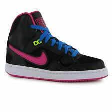Nike Son of Force Mid Trainers Junior Girls Black/Pink Sports Shoes Sneakers