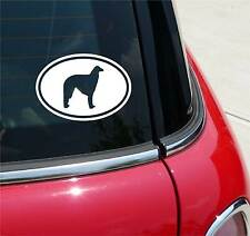 BORZOI BORZOIS DOG GRAPHIC DECAL STICKER ART CAR WALL EURO OVAL