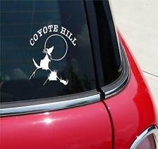 COYOTE HOWLING ON A HILL MOON GRAPHIC DECAL STICKER ART CAR WALL