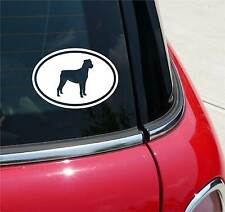 ROTTWEILER ROTTIE ROTTIES DOG GRAPHIC DECAL STICKER ART CAR WALL EURO OVAL