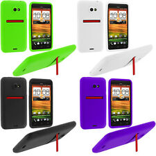 Color Silicone Rubber Skin Case Cover for New HTC EVO 4G LTE Sprint Phone