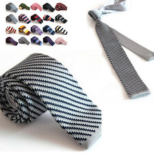 Fashion Mens Casual Tie Knit Knitted Tie Necktie Narrow Slim Skinny Woven
