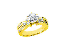 Natural 1.50Ct Round Cut Diamond Engagement Ring Solid 18k Gold IJ SI2