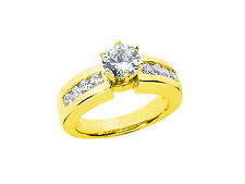 Natural 0.75Ct Round Cut Diamond Bridal Engagement Ring Solid 10k Gold GH I1