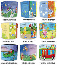 Children`s Nursery Rhyme Table Lamp Shades Or Ceiling Lights Shades Pendants