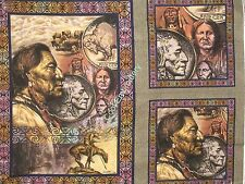 Native American Indian cotton quilt fabric panel *Choose design