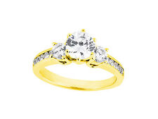 Genuine 1.40Ct Round Cut Untreated Diamond Engagement Ring Solid 14k Gold