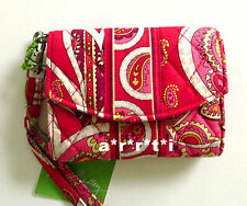 Vera Bradley Cell Phone Wristlet Rosy Posies New with Tags Retired Style
