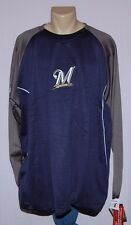Milwaukee Brewers Big & Tall Therma Base Sweatshirt - MLB Majestic