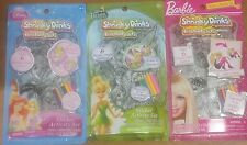 Lot of 3 Diff't Disney & Barbie Shrinky Dinks, Princess, Fairies - Activity Sets