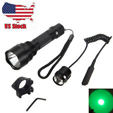 3000lm Rechargeable CREE T6 Whit /Green LED Tactical Flashlight Torch 18650 Lamp