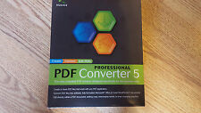 BRAND NEW SEALED NUANCE PROFESSIONAL PDF CONVERTER 5 CREATE CONVERT EDIT PDF