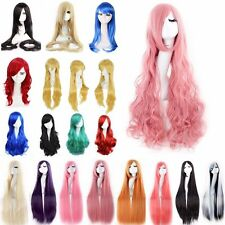 Women Ladies Heat Resistant Long Hair Wig Cosplay Party Anime Full Wigs 80cm #KM
