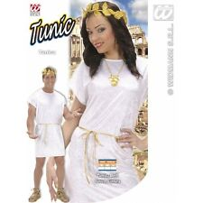 Mens White Tunic Costume Outfit for Roman Greek Fancy Dress