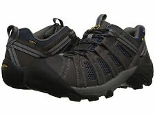 New Keen Mens Voyager Gray Leather Athletic Trail Running Hiking Shoes Sz 12-17