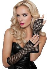 Seven 'til Midnight Fingerless Elbow Fishnet Gloves - 40121