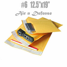 #6 12.5x19 KRAFT BUBBLE MAILERS PADDED ENVELOPES BAGS  SELF SEAL AirnDefense