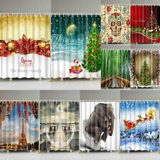 1Pc Shower Curtain Bathroom Waterproof Polyester Fabric Various Pattern & Hooks