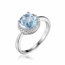 JewelryPalace Natural Sky Blue White Topaz Engagement Ring 925 Sterling Silver