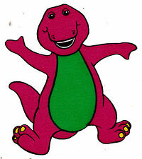 """5.5-8.5"""" BARNEY  WALL SAFE STICKER CHARACTER BORDER CUT OUT"""