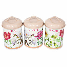 Vintage canisters - Pink tea and coffee canisters ...