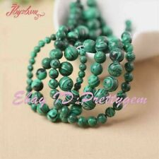 "Round Green Manmade Malachite Gemstone Spacer Beads 15"" 4mm 6mm 8mm 10mm 12mm"