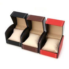 Leather Watch Box Display Present Case For Bracelet Bangle Jewelry Gift Storage