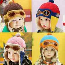 Winter Pilot Aviator Baby Earflap Toddler Girl Boy Kids Cap Warm Soft Beanie Hat