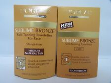 """Loreal Sublime Bronze Self-Tanning Towelettes For Face *6 Towelettes(7""""X9"""")* NIB"""