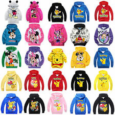 Children Kids Boys Girls Cartoon Sweatshirts Pullover Hoodies Tops Jumper Jacket