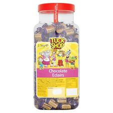 TUCK SHOP CHOCOLATE ECLAIRS 2.5KG JAR OF KIDS SWEETS TREAT GIFTS PARTY HALLOWEEN