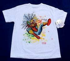 NWT Youth Marvel Recheck 613 Spiderman White 3D T Shirt Sizes Vary