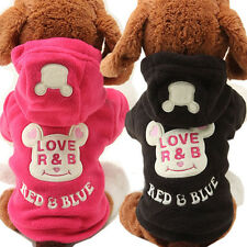 Sweet Small Dog Pet Clothes Cartoon Bear Hoodie Sweater Puppy Coat Apparel New