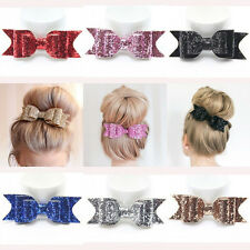 Fashion Women Girl Hairpin Bowknot Barrette Crystal Hair Clip Bow Accessory Gift