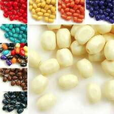 30g 690pcs Approx Wooden Wood Beads 6x4mm Rice Spacer Dyed Loose Beads DIY