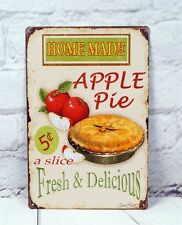Home Made Apple Pie Retro Tin Signs Home Resturant Kitchen Cafe Wall Decor Mural